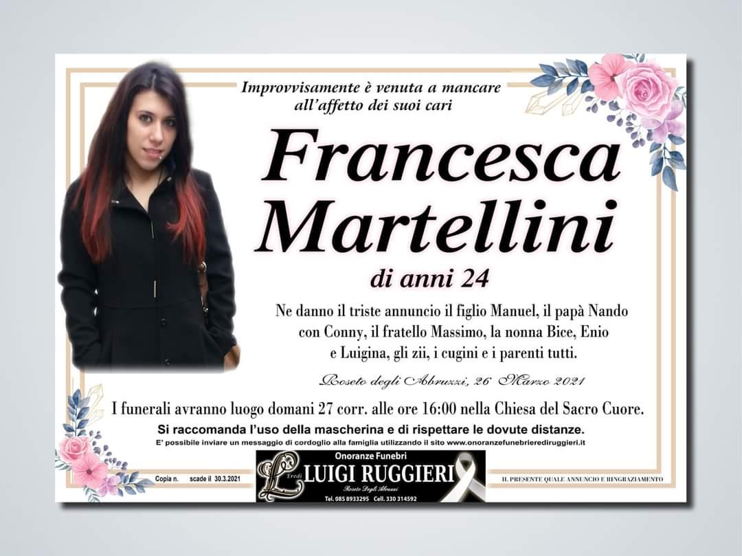 Roseto degli Abruzzi – Francesca Martellini, 24 anni