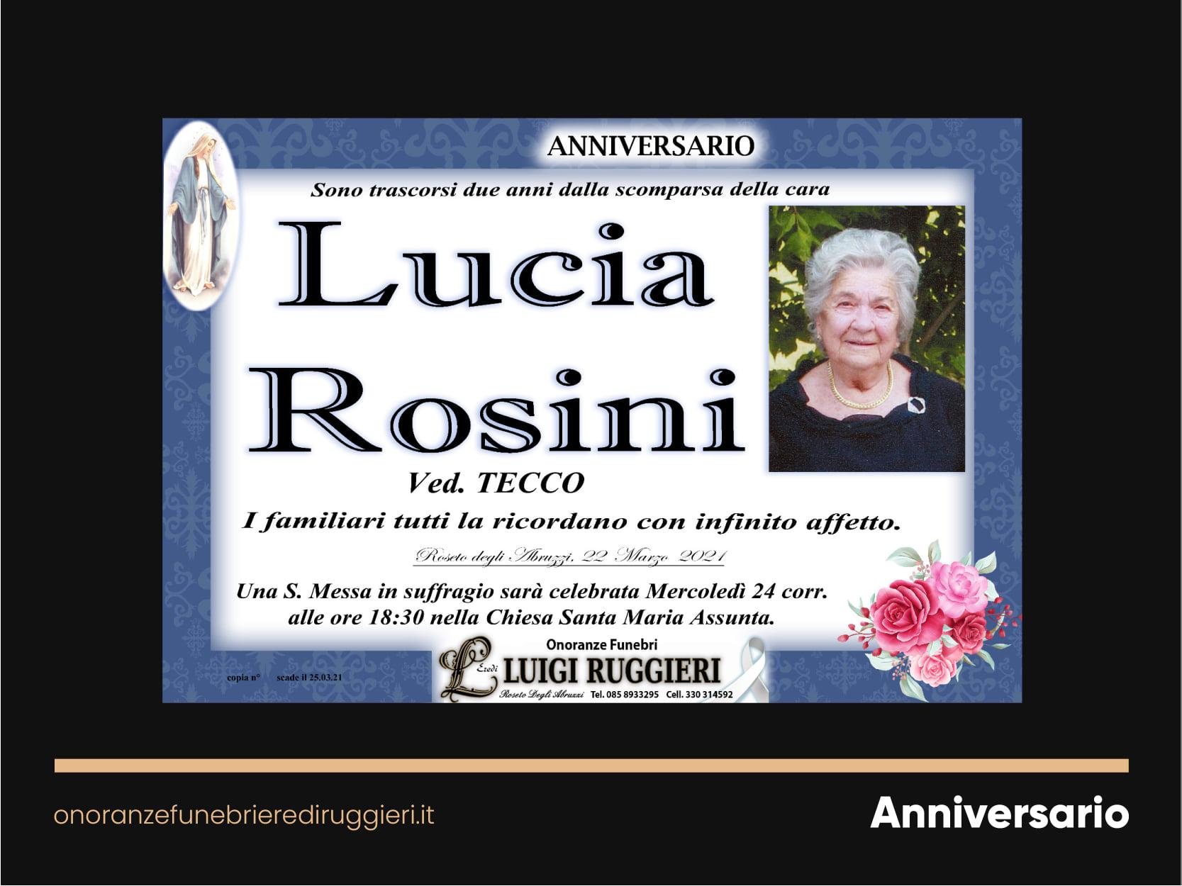 ANNIVERSARIO – Lucia Rosini