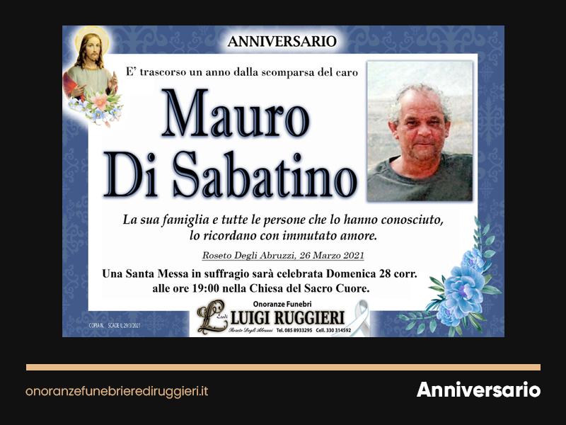 ANNIVERSARIO – Mauro Di Sabatino