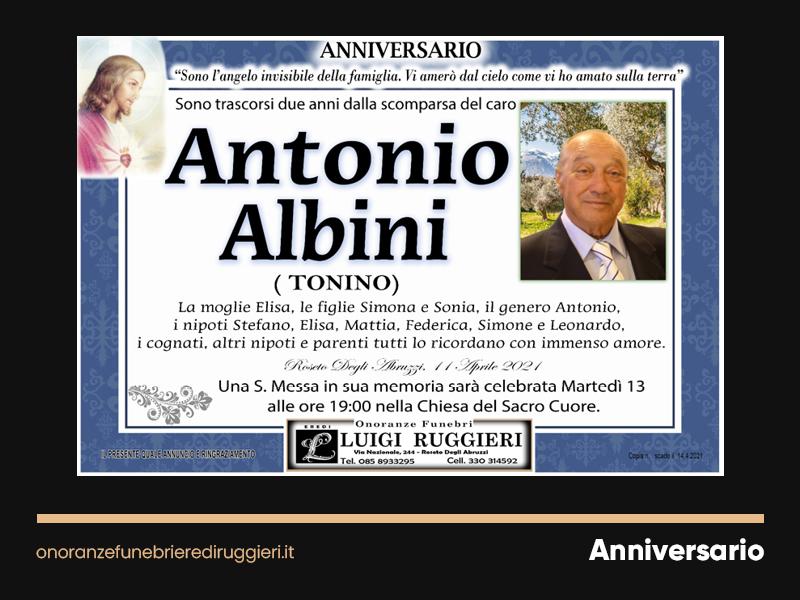 ANNIVERSARIO – Antonio Albini