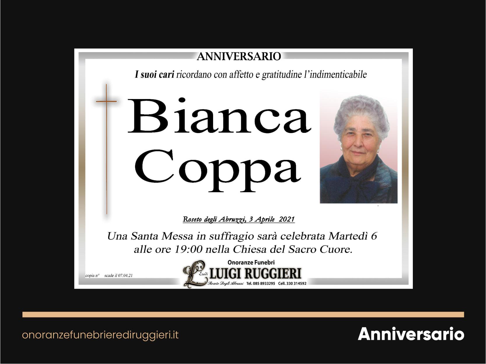 ANNIVERARIO – Bianca Coppa