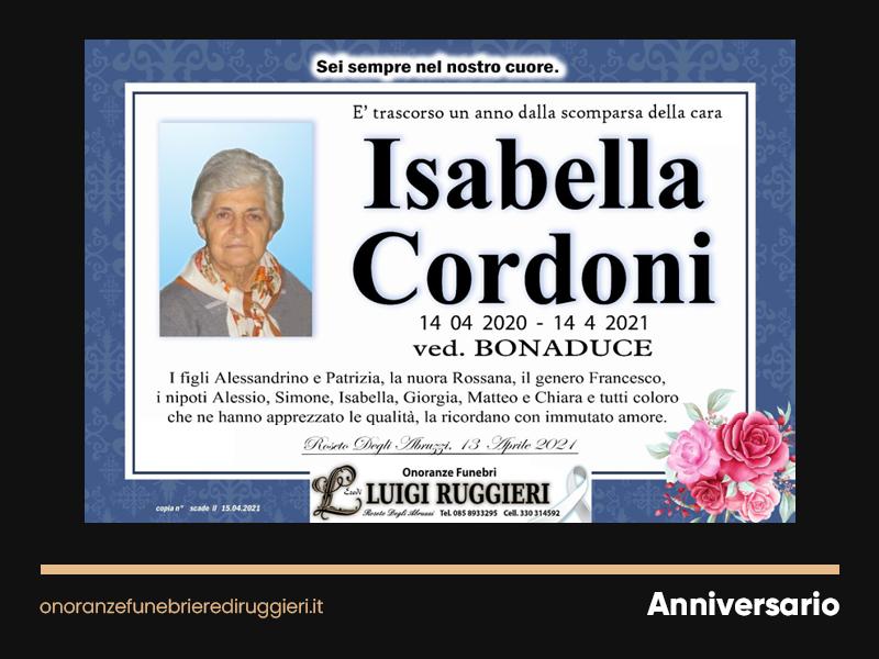 ANNIVERSARIO – Isabella Cordoni
