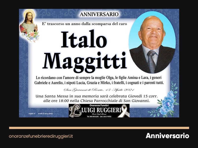 ANNIVERSARIO – Italo Maggitti